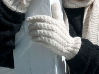 Cable Gloves - Trenza