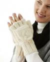 Cable knit Alpaca Glittens