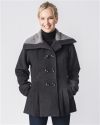 Fancy Peacoat Alpaca Dress Coat