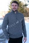 Men's Half Zip Alpaca Sweater