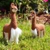 100% Baby Alpaca Figurine - Vicuna