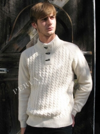 MEN'S TOGGLE ALPACA SWEATER